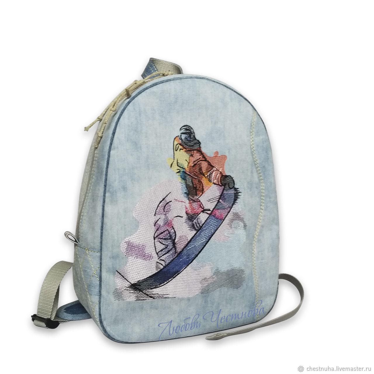 Рюкзак джинсовый Snowboard, Рюкзаки, Кострома,  Фото №1