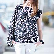 Одежда ручной работы. Ярмарка Мастеров - ручная работа Блузка, Летняя блузка, Модная блузка, Красивая блузка Роза. Handmade.