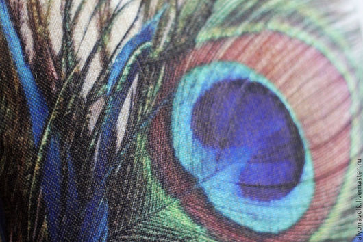 """Текстиль, ковры ручной работы. Ярмарка Мастеров - ручная работа. Купить Подушка """"Перо"""" серии """"Павлин"""". Handmade. Синий, курица"""