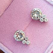 Украшения handmade. Livemaster - original item 2.90 ct Gold beads with diamonds buy. Handmade.