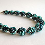 Украшения handmade. Livemaster - original item Harness beaded Turquoise. Handmade.