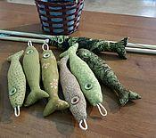 Куклы и игрушки ручной работы. Ярмарка Мастеров - ручная работа Лоскутная игра-рыбалка. Handmade.