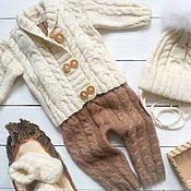 Комплекты одежды ручной работы. Ярмарка Мастеров - ручная работа Комплект вязаный для малыша. Handmade.
