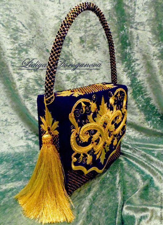 купить сумочку авторская сумка дизайнерская сумка татральная сумочка вышивка золотом эксклюзивная вещь Лидия Дороганова Lidiya Doroganova