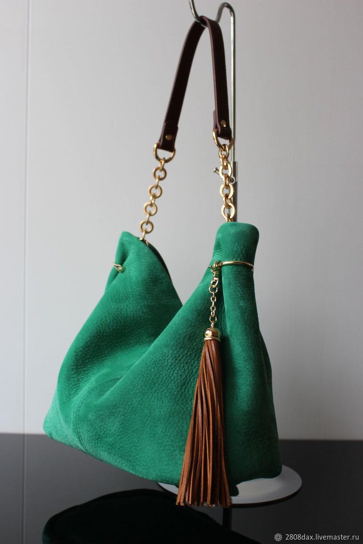 e37700ad67bb 'Granville Светло-Зеленый' замшевая зеленая сумка, мятная. Женские сумки  ручной работы. Ярмарка Мастеров - ручная работа. Купить ' ...