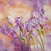 Картины и панно handmade. Livemaster - original item Oil painting Gentle irises. Handmade.