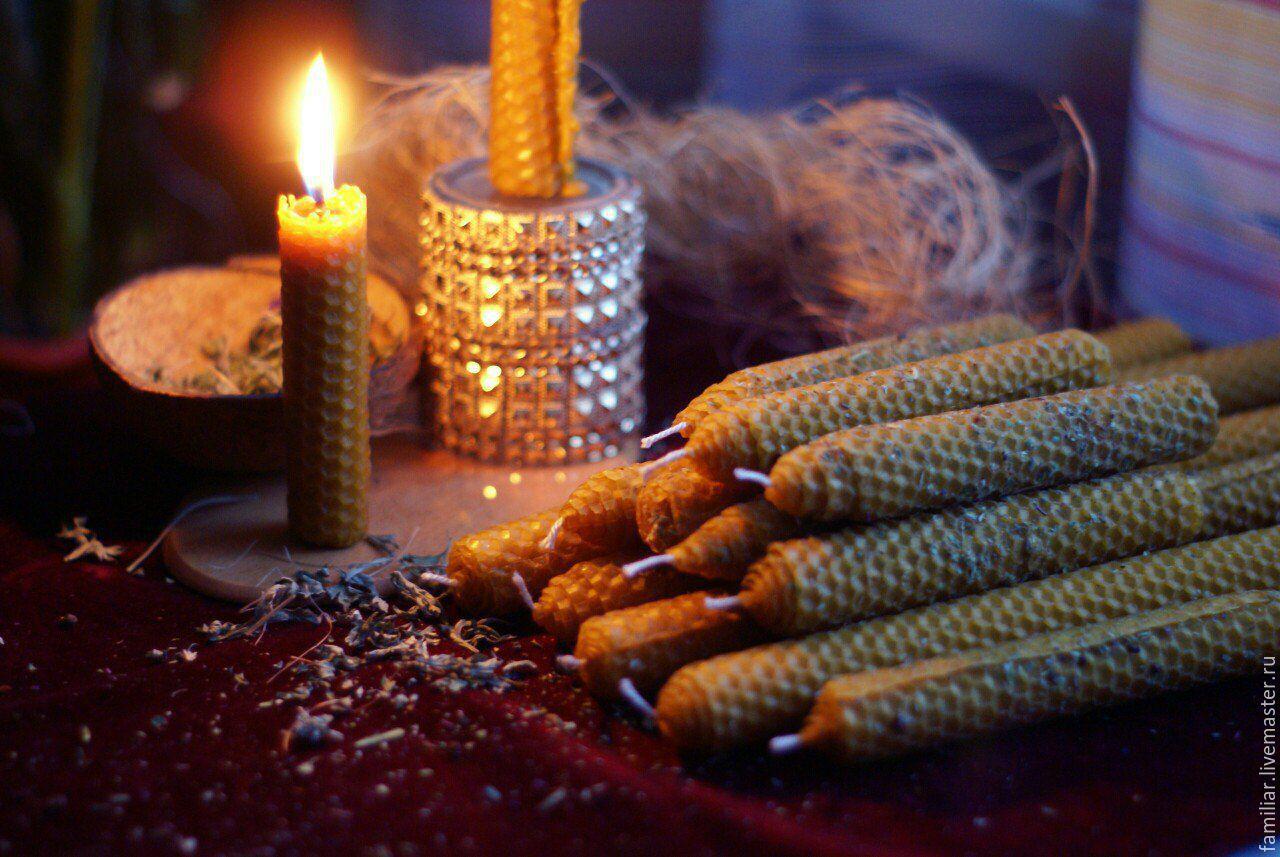 Ароматные свечи из высококачественной вощины с травами, Вощина, Москва,  Фото №1