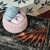 Материалы для творчества handmade. Livemaster - original item Set of wooden hooks for knitting from bubingo (6 PCs 4-9 mm) KN21. Handmade.