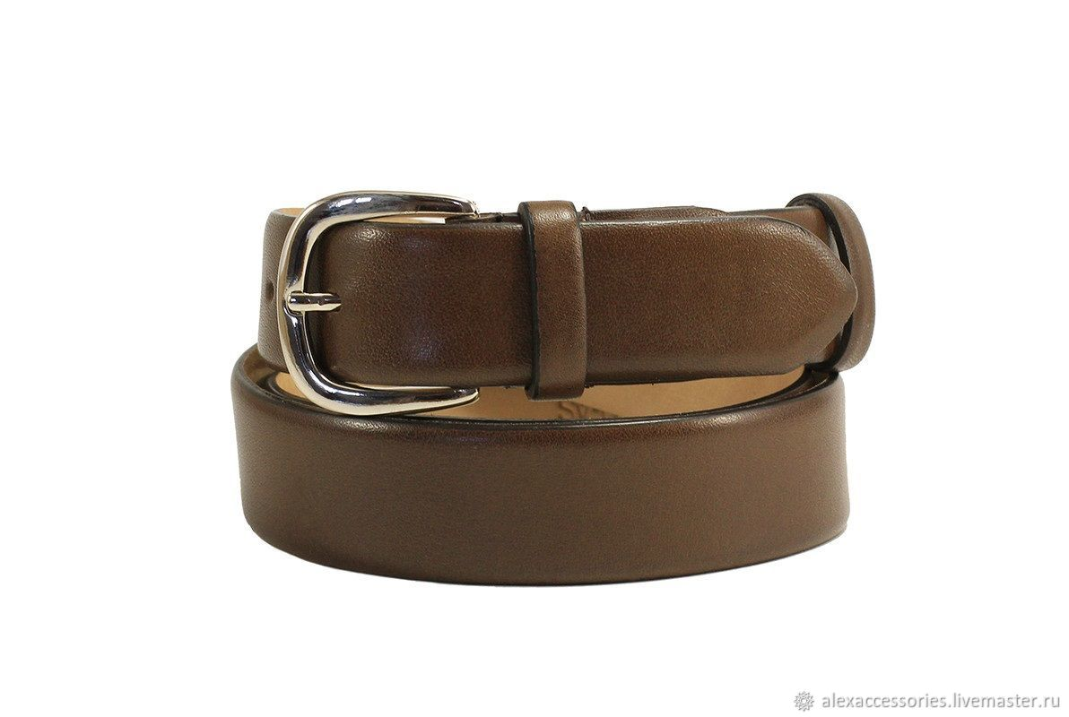 Brown leather belt, Straps, Moscow,  Фото №1