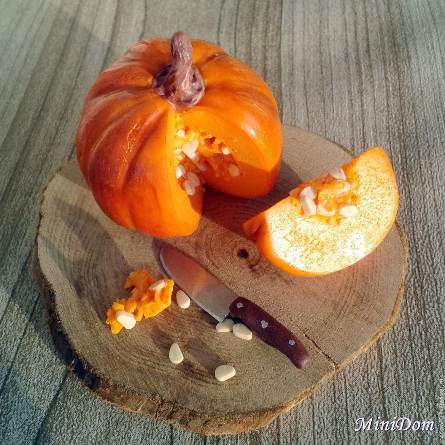 Food for dolls - Pumpkin for dollhouse miniature in twelfth scale 1 12, Doll food, Moscow,  Фото №1
