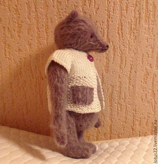 Мишка из немецкого мохера.