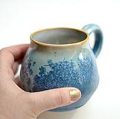 """Посуда ручной работы. Ярмарка Мастеров - ручная работа Кружка """"зимние снежинки"""". Handmade."""