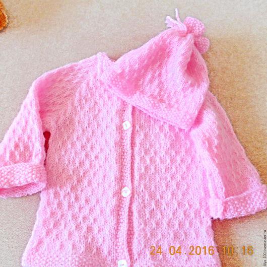 Одежда для девочек, ручной работы. Ярмарка Мастеров - ручная работа. Купить кофточка вязанная для девочки и шапочка.Комплект для девочки. Handmade.