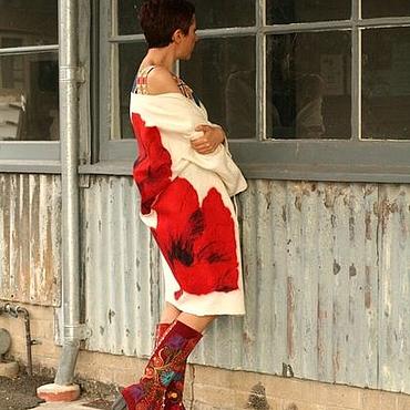 """Одежда ручной работы. Ярмарка Мастеров - ручная работа Пальто """"Маки"""". Handmade."""