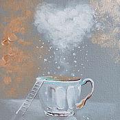 Картины и панно ручной работы. Ярмарка Мастеров - ручная работа Утро со вкусом волшебства - картина на холсте. Handmade.