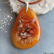 Украшения ручной работы. Ярмарка Мастеров - ручная работа Рыжий кот. Handmade.