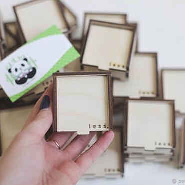 Для дома и интерьера ручной работы. Ярмарка Мастеров - ручная работа Коробка из фанеры, коробки шкатулки с логотипом. Handmade.