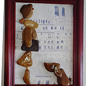 Картины и панно ручной работы. Ярмарка Мастеров - ручная работа СОБАКИ-2 картины морскими камушками. Handmade.
