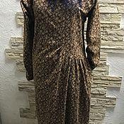 Платья ручной работы. Ярмарка Мастеров - ручная работа Платье фланелевое коричневое в мелкий цветочек. Handmade.