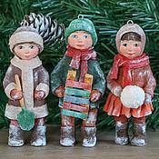 Christmas decorations handmade. Livemaster - original item Cotton Christmas decorations handmade.. Handmade.