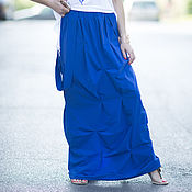 Одежда handmade. Livemaster - original item Bright, loose skirt in the floor - SK0622LE. Handmade.