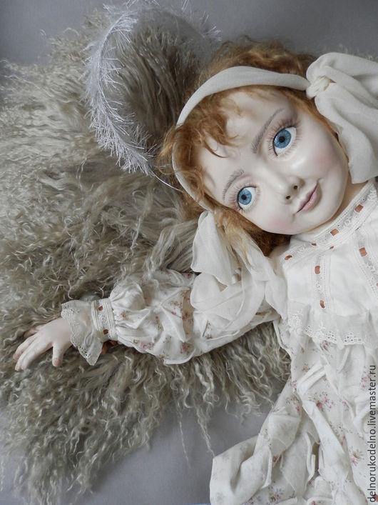 Куклы и игрушки ручной работы. Ярмарка Мастеров - ручная работа. Купить Шкурка козочки платиновый блонд.. Handmade. Золотой, тресс