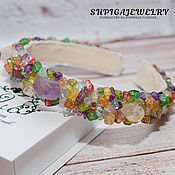 Украшения handmade. Livemaster - original item Headband - tiara with natural stones