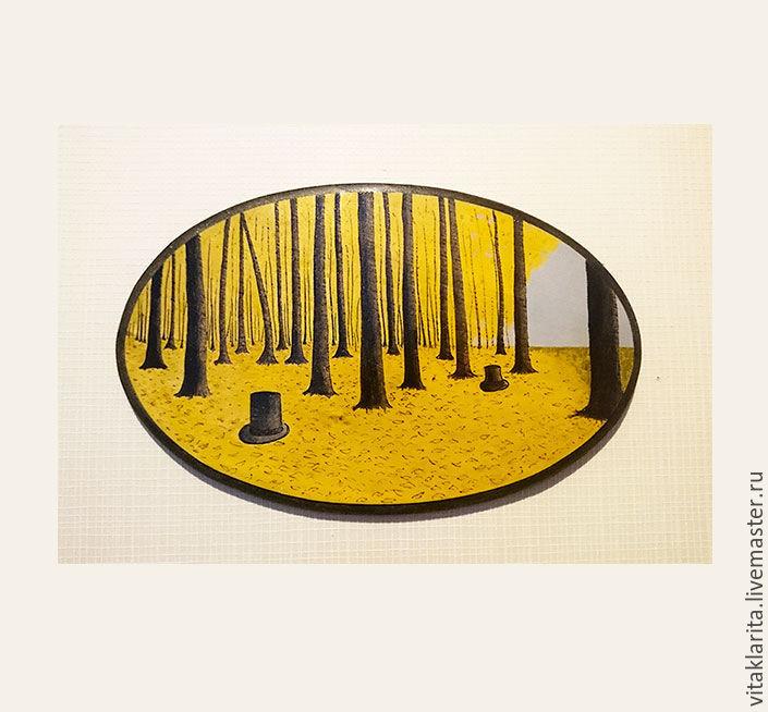 Деревянное панно Hats in the woods, Картины, Москва,  Фото №1