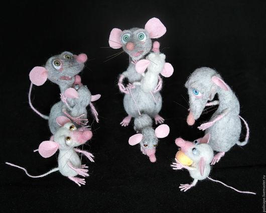 Игрушки животные, ручной работы. Ярмарка Мастеров - ручная работа. Купить Крысюки. Handmade. Серый, кукла ручной работы, мышка