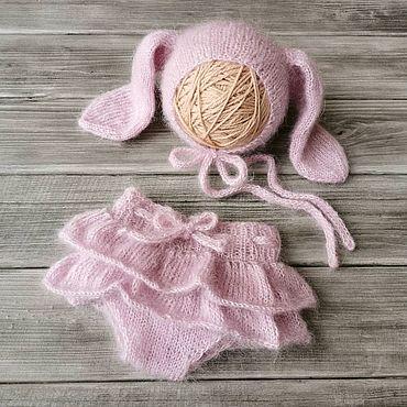 Товары для малышей ручной работы. Ярмарка Мастеров - ручная работа Комплект зайка для фотосессии новорожденных малышей. Handmade.