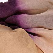 Аксессуары handmade. Livemaster - original item 100% chiffon silk stole. Handmade.