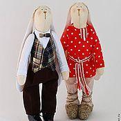 Куклы и игрушки ручной работы. Ярмарка Мастеров - ручная работа Братец Кролик и братец Заяц. Handmade.