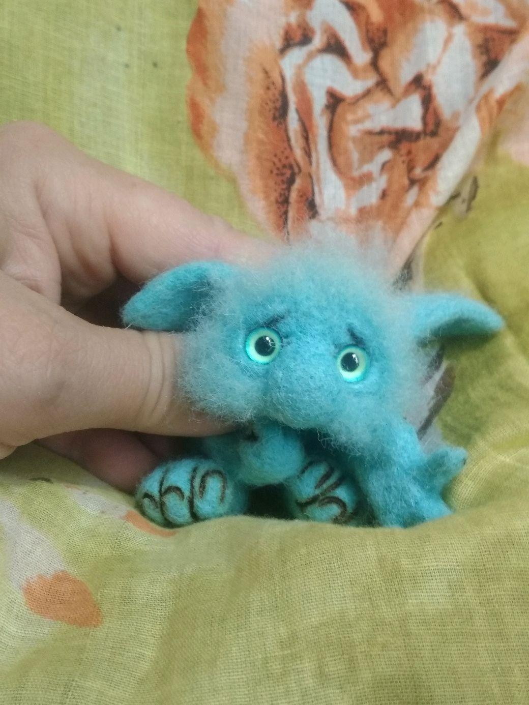 Голубенькое счастье ))( домовый трольчонок), Мягкие игрушки, Подольск,  Фото №1