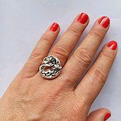 Украшения handmade. Livemaster - original item Silver ring Flowers. Ring dimensionless. Large ring. Silver. Handmade.