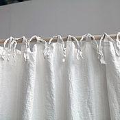 Для дома и интерьера handmade. Livemaster - original item Decorative linen curtain. 100% linen. Softened.. Handmade.