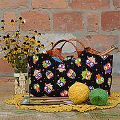 Для дома и интерьера ручной работы. Ярмарка Мастеров - ручная работа Сумка-корзинка для рукоделия # 4. Handmade.