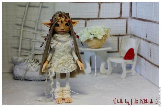 Коллекционные куклы ручной работы. Ярмарка Мастеров - ручная работа. Купить Девочка -эльфик. Handmade. Комбинированный, авторская работа