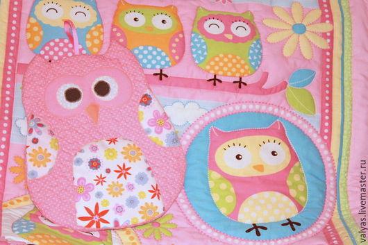 Детская ручной работы. Ярмарка Мастеров - ручная работа. Купить Одеяло Совушки + пижаница сова. Handmade. Розовый