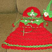 Работы для детей, ручной работы. Ярмарка Мастеров - ручная работа Платье ягодка. Handmade.