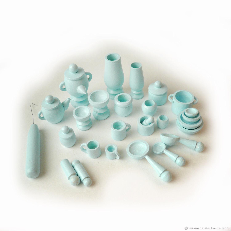 Playsets: Set of dinnerware (pawns) 27 items (1), Play sets, Sarov,  Фото №1