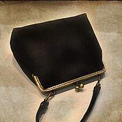 Сумки и аксессуары handmade. Livemaster - original item Handbag black suede. Handmade.