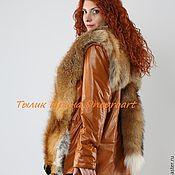 Одежда handmade. Livemaster - original item Jacket-vest made of bright red leather with Fox fur. Handmade.