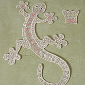 Материалы для творчества handmade. Livemaster - original item FSL embroidery applique Flower lizard stripe decoration. Handmade.