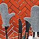 """Варежки, митенки, перчатки ручной работы. Ярмарка Мастеров - ручная работа. Купить Валяные варежки """" Любимому"""". Handmade. Серый"""
