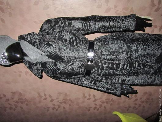 Верхняя одежда ручной работы. Ярмарка Мастеров - ручная работа. Купить Стильное английское пальто из каракуля SWAKARA. Handmade. Черный
