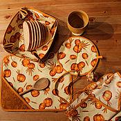 Для дома и интерьера ручной работы. Ярмарка Мастеров - ручная работа Набор для кухни с тыквами. Handmade.