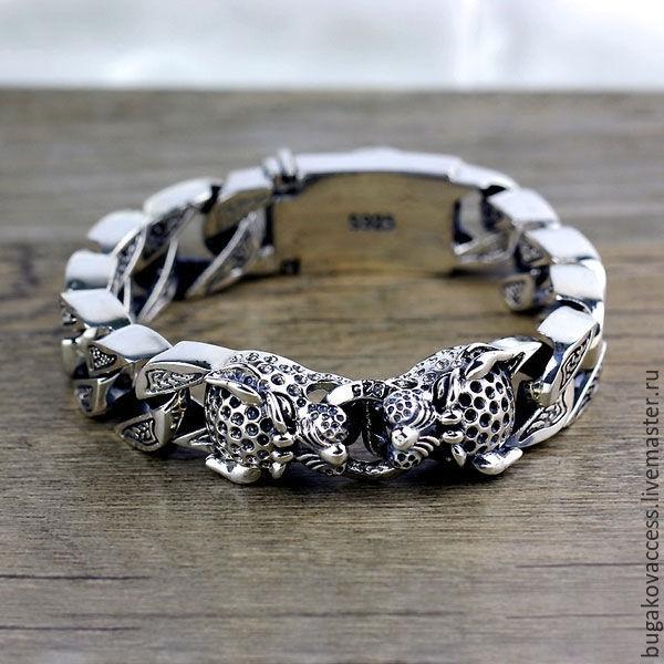 87280dcf17cda Серебряный массивный мужской браслет 19 – купить в интернет-магазине ...