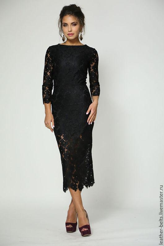 Платья ручной работы. Ярмарка Мастеров - ручная работа. Купить Коктейльное платье. Handmade. Черный, платье на заказ, кружево