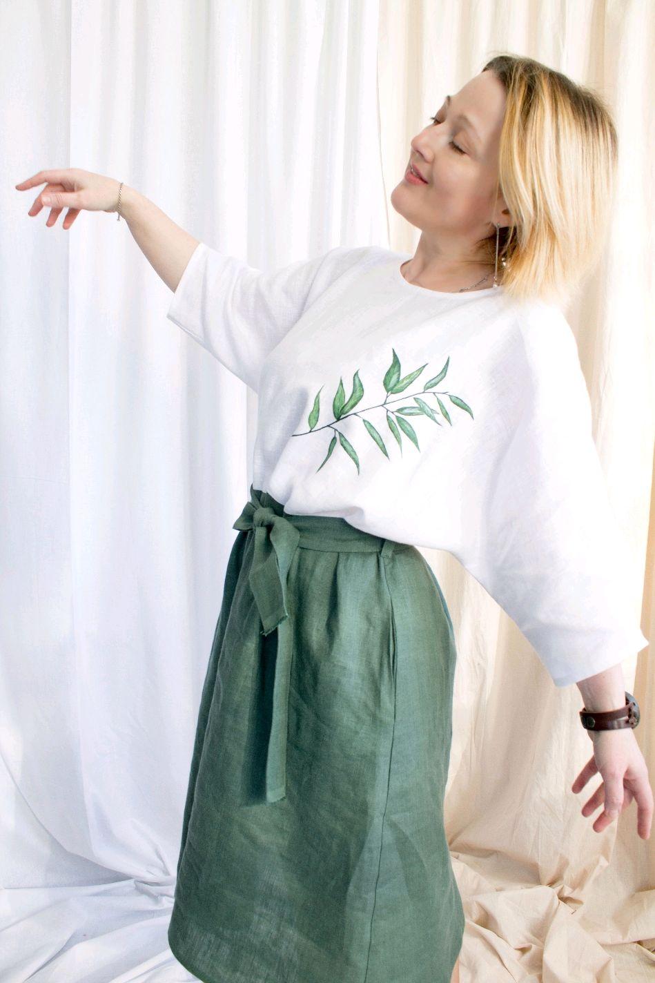 Льняное платье-балахон Ива, Платья, Кобрин,  Фото №1
