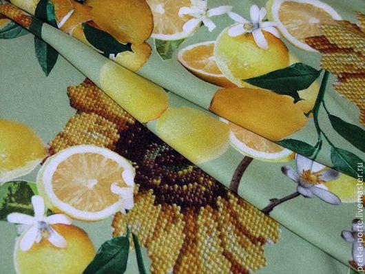 Шитье ручной работы. Ярмарка Мастеров - ручная работа. Купить D&G шелк с эластаном линия  Alta moda  , Италия. Handmade.